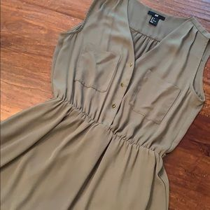 H&M Olive Sleeveless Dress